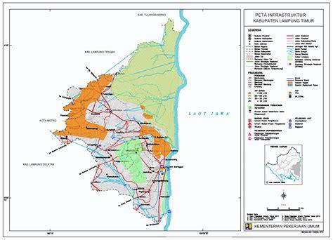 peta kota peta kabupaten lampung timur