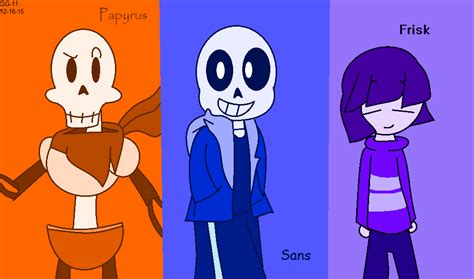 Undertale- Papyrus, Sans, And Frisk By Galaxygal-11 On