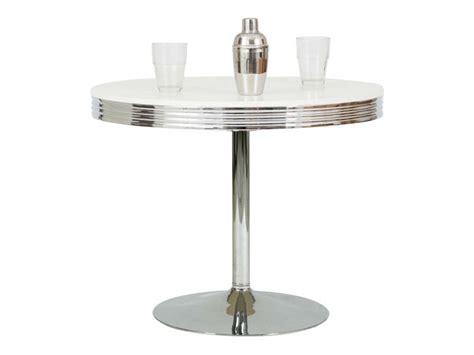 table ronde cuisine table ronde dean coloris chrome conforama