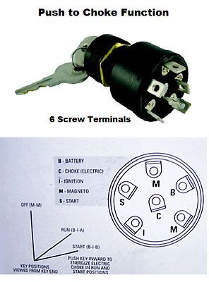 mercury outboard push  choke ignition switch replaces