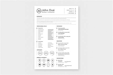 sketch resume template a4 sketch resume template free design resources