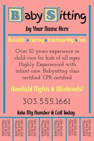 Babysitter Flyer Maker Customize 330 Babysitting Templates Postermywall