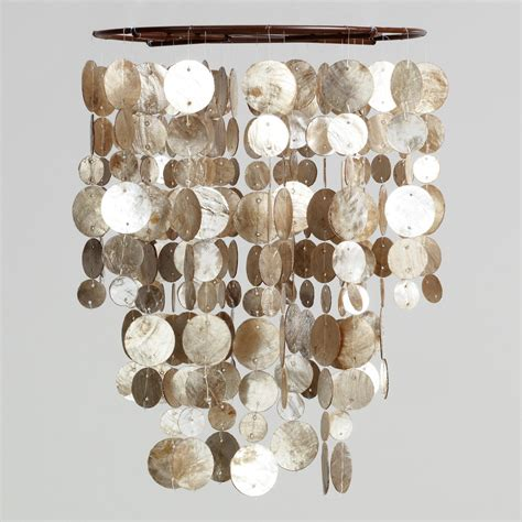 white and gold capiz shell chandelier for your