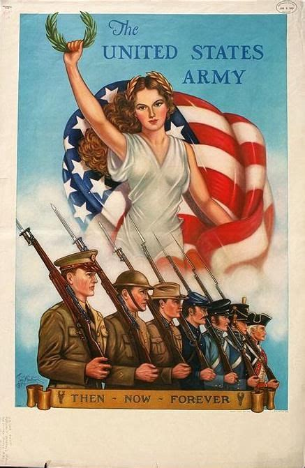 patriotic poster  world war ii public domain image