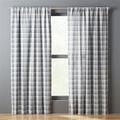 Blue Plaid Kitchen Curtains Thebestwoodfurniture