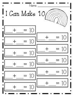i can make 10 sheet to record numeracy ideas math math school math worksheets