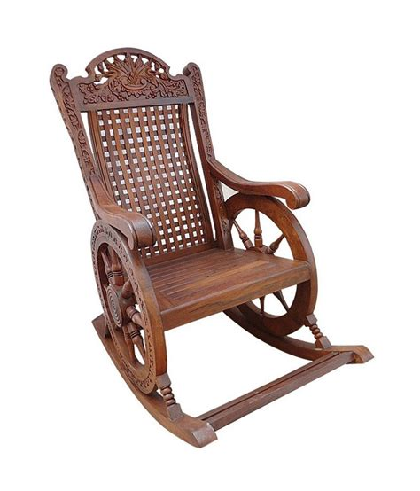 solid wood chariot rocking chair buy price