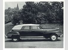 1942 Chrysler Imperial Limousines