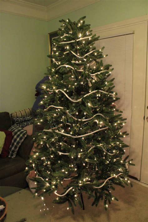 how to wrap a christmas tree with ribbon a coastal tree