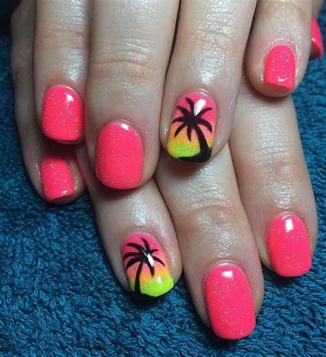 palm tree nail design 32 easy designs for nails that you can try at home