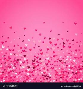 Romantic pink heart background Royalty Free Vector Image
