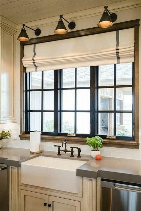 industrial style window  wood frame black trim