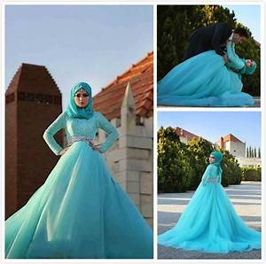 2015 light sky blue muslim wedding dresses beautiful lace With sky blue dresses for a wedding