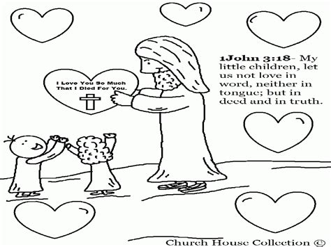 Coloring Page Jesus Loves The Children Home