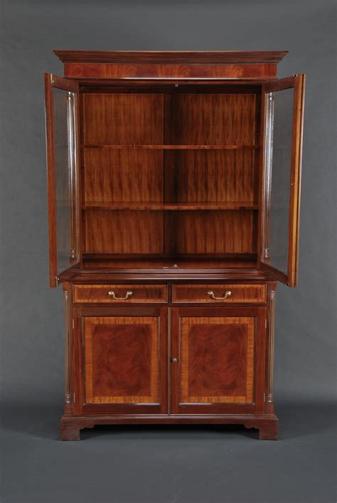 ebay mahogany china cabinet high end mahogany two door china cabinet ebay