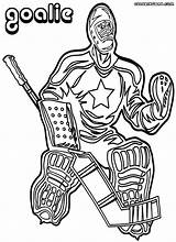 Hockey Goalie Coloring Pages Colorings sketch template