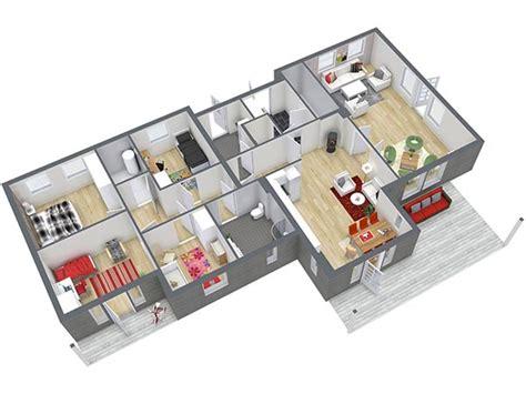 Haus Grundriss 3d by Grundrisse Roomsketcher