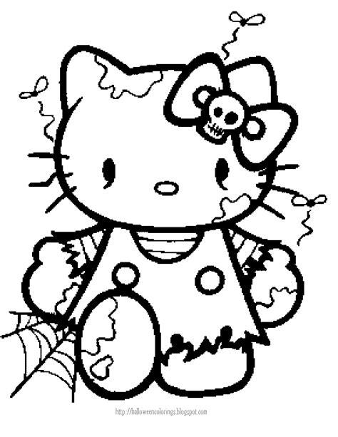 HELLO KITTY COLORING: HELLO KITTY HALLOWEEN COLORING
