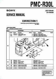 Sony Pmc-r30l Service Manual