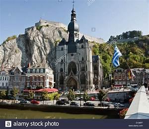 Kathedrale Und Zitadelle  Dinant Namur Belgien Stockfoto  Bild  52316755