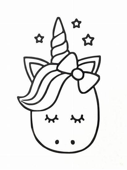 Unicorn Para Dibujos Cartoon Colorear Sticker Unicornio