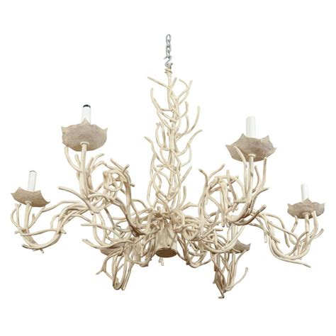 Coral Chandelier by Mid Century Phyllis Morris Faux Coral Chandelier At 1stdibs