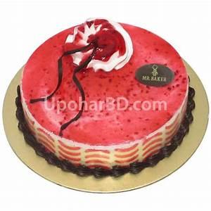 Send cake to Bangladesh - Strawberry Mousse Cake - Cakes