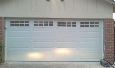 insulated 2 car garage door insulated two car garage door with stockton window design