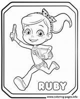 Rusty Rivets Coloring Ruby Printable Ausmalbilder Sheets Whirly Ausdrucken Zum Sheet Drawings Draw Prints Cartoon Gemerkt Worksheets Von Bear Pack sketch template