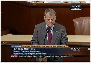 Rep. Mike McIntyre (North Carolina) applauds the National ...