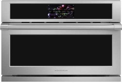 monogram zsbnss   smart electric    wall oven  advantium technology  cu