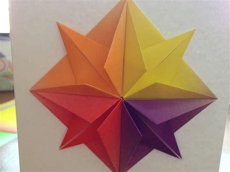 origami star greeting card