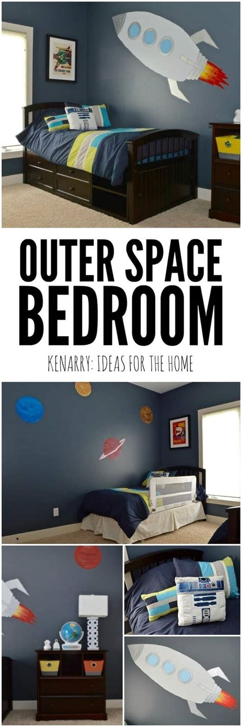Outer Space Bedroom Decor by Outer Space Boys Bedroom The Reveal
