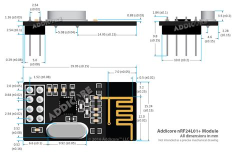 x10 l module schematic 2pcs addicore nrf24l01 wireless transceiver modules