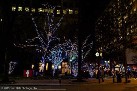 christmas lights in uptown charlotte north carolina tom