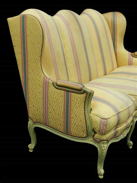 Settee Cleaner by 3 Seater Louis Xv Revival Wing Sofa Settee Clean Or