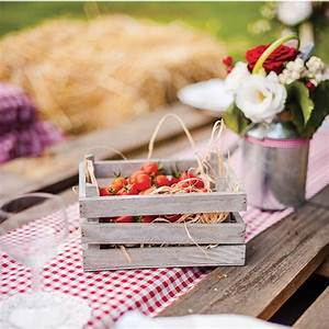 Cagette Bois Deco : centre de table cagette en bois decoration mariage badaboum ~ Teatrodelosmanantiales.com Idées de Décoration