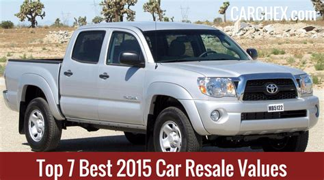 Top 7 Best 2015 Car Resale Values