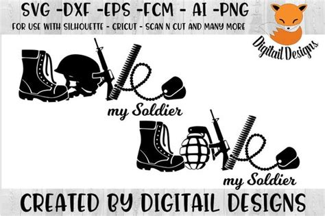 Download high quality military images in ai, svg, png, jpg and psd. Love Army SVG png dxf eps ai fcm Cut File   Etsy