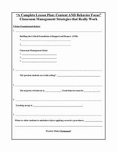 a complete lesson plan behavior and content focus With close reading planning template
