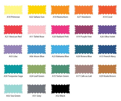 fabric dye colors dylon cold colour palette colour charts