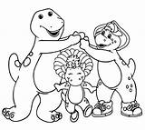 Barney Coloring Friends Pages Printable Dinosaur Birthday Happy Getcoloringpages Cartoon Bj Books sketch template