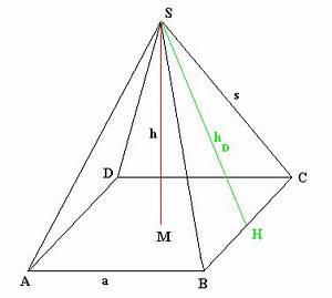 Höhe Von Pyramide Berechnen : satz des pythagoras berechnungen an k rpern ~ Themetempest.com Abrechnung