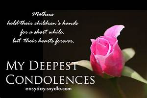condolences-messages-on-death-of-mother - Easyday