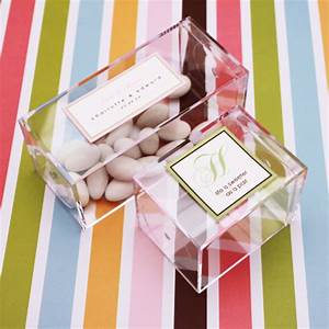 crystal clear favor box 15 pcs favor boxes favor With clear wedding favor boxes