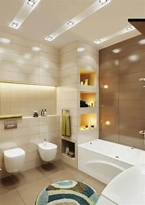 petite salle de bains avec wc 55 idees de meubles et deco With carrelage adhesif salle de bain avec spot led couleur