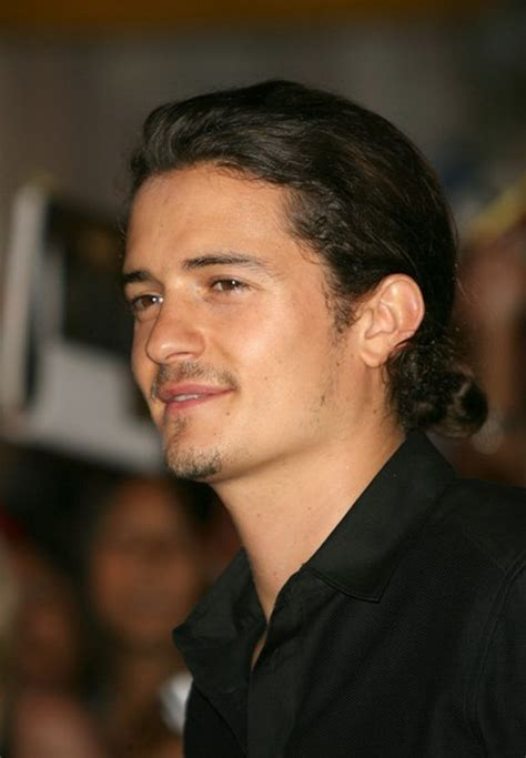 Celebrity Hairstyles: Orlando Bloom Ponytail Hairstyles