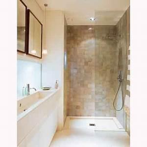 salle de bains faite par les architectes flora de gatines With petite salle de bain sans fenetre