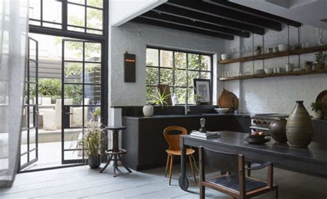 Moody Industrial Meets Vintage Kitchen Design