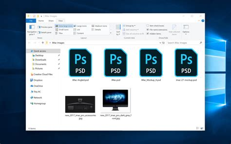 How To Show Psd Icon Previews In Windows 10 File Explorer